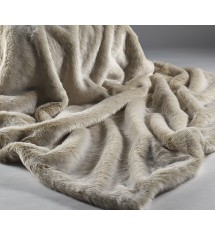 Beige Frost Large Throw