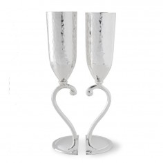 Culinary Concepts Silver Plate Heart Lovers' Cups - set of 2