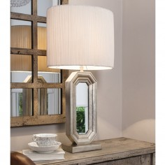 "Sabino Table Lamp with white shade. Height 25.5"" (65cm)"