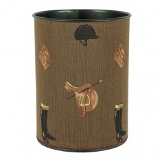 Equestrian Brown Tapestry Waste Bin