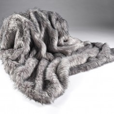 Grey Wolf Large Throw