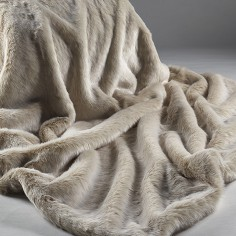 Beige Frost Medium Throw